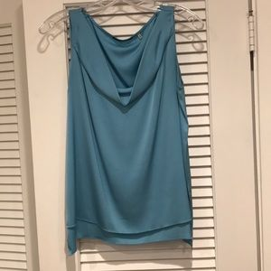 Light blue Elie Tahari small silk top